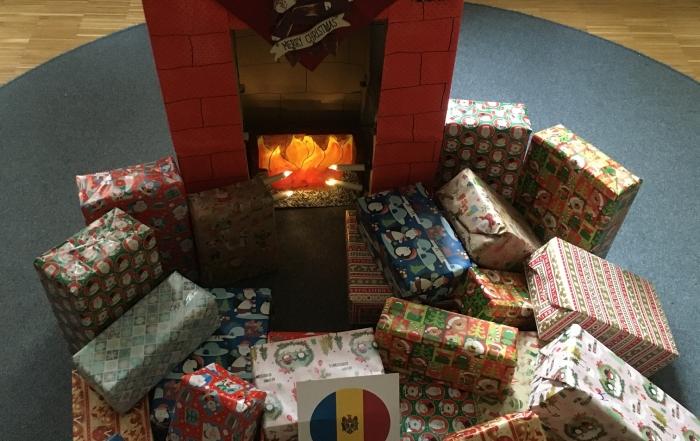 Weihnachtsgeschenke für Kinder in Moldawien