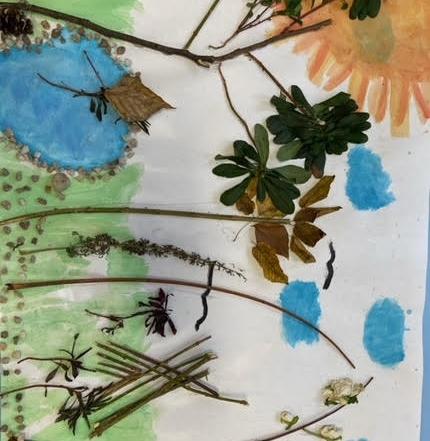 Kunst mit Naturmaterialien in der OVS Gruppe 5